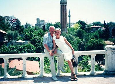 Я с мужем где-то на Туретчине