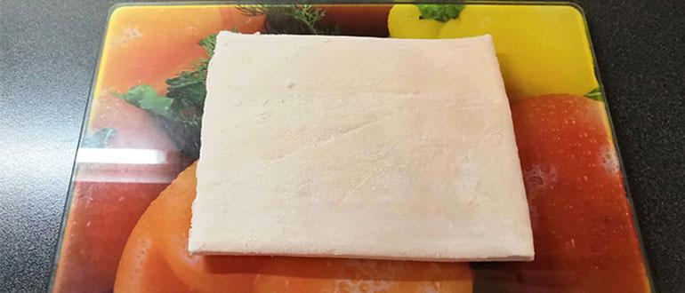 Правильное питание — фруктовый пирог. Размораживаем лист слоено — дрожжевого теста