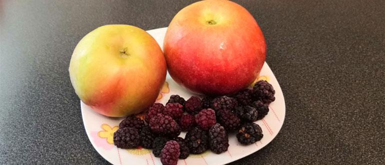 Фрукты и ягоды, яблоки и ежевика, возможны варианты