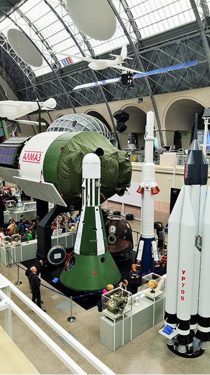 Музей космонавтики на ВДНХ. Автоматическая орбитальная станция «Алмаз», для задач Минобороны СССР