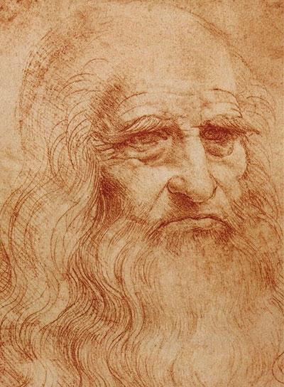Флоренция Возрождения известные люди. Автопортрет Леонардо да Винчи