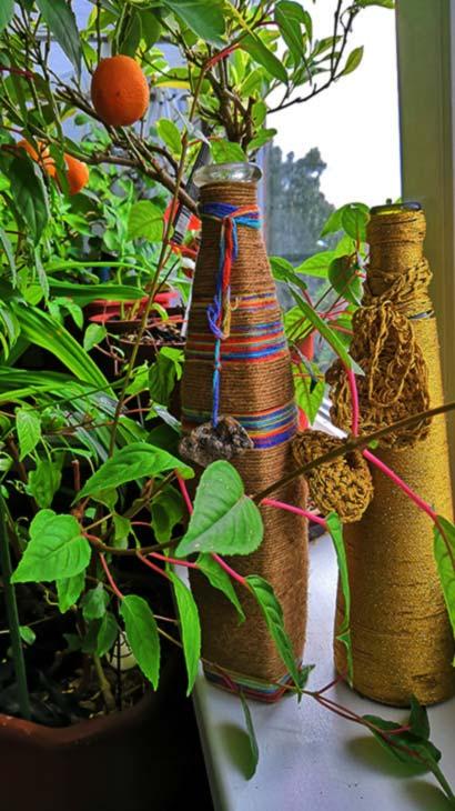 Вязание крючком украсит и зимний сад квартиры
